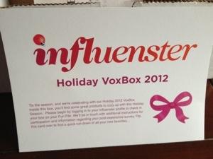 Influenster – Holiday Vox BoxReview
